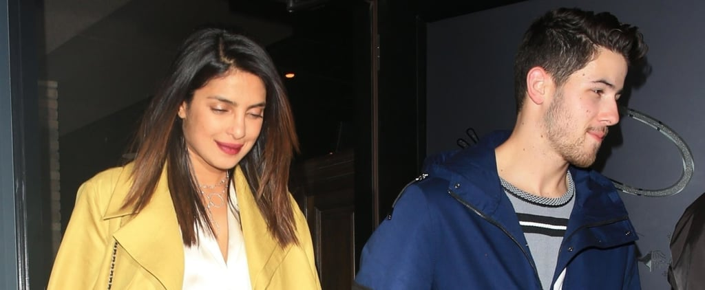 Priyanka Chopra in Yellow Coat With Nick Jonas