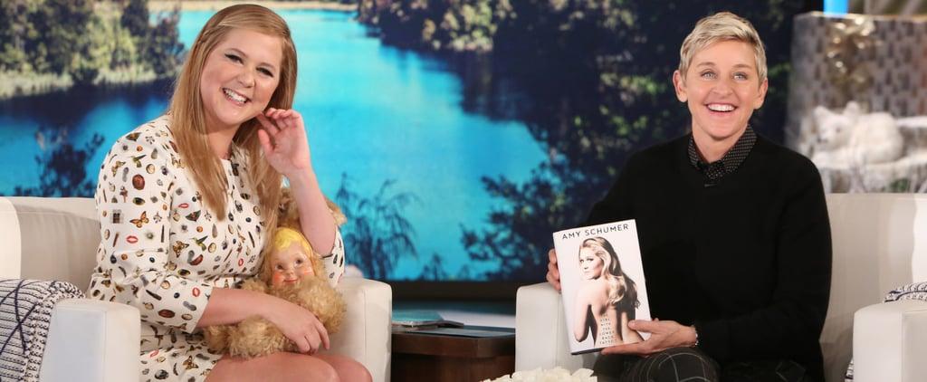 Amy Schumer Talking About Goldie Hawn on The Ellen Show 2016