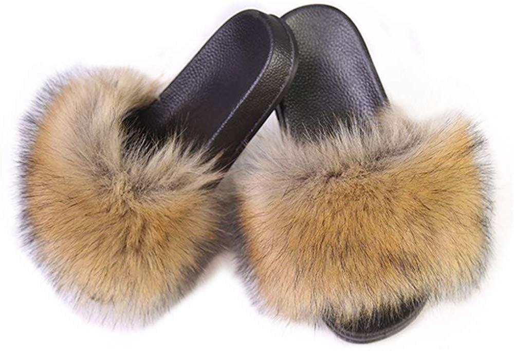 LSWJS Faux Fur Slides