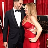 Joe Manganiello and Sofia Vergara showed off their newly engaged glow on the red carpet.