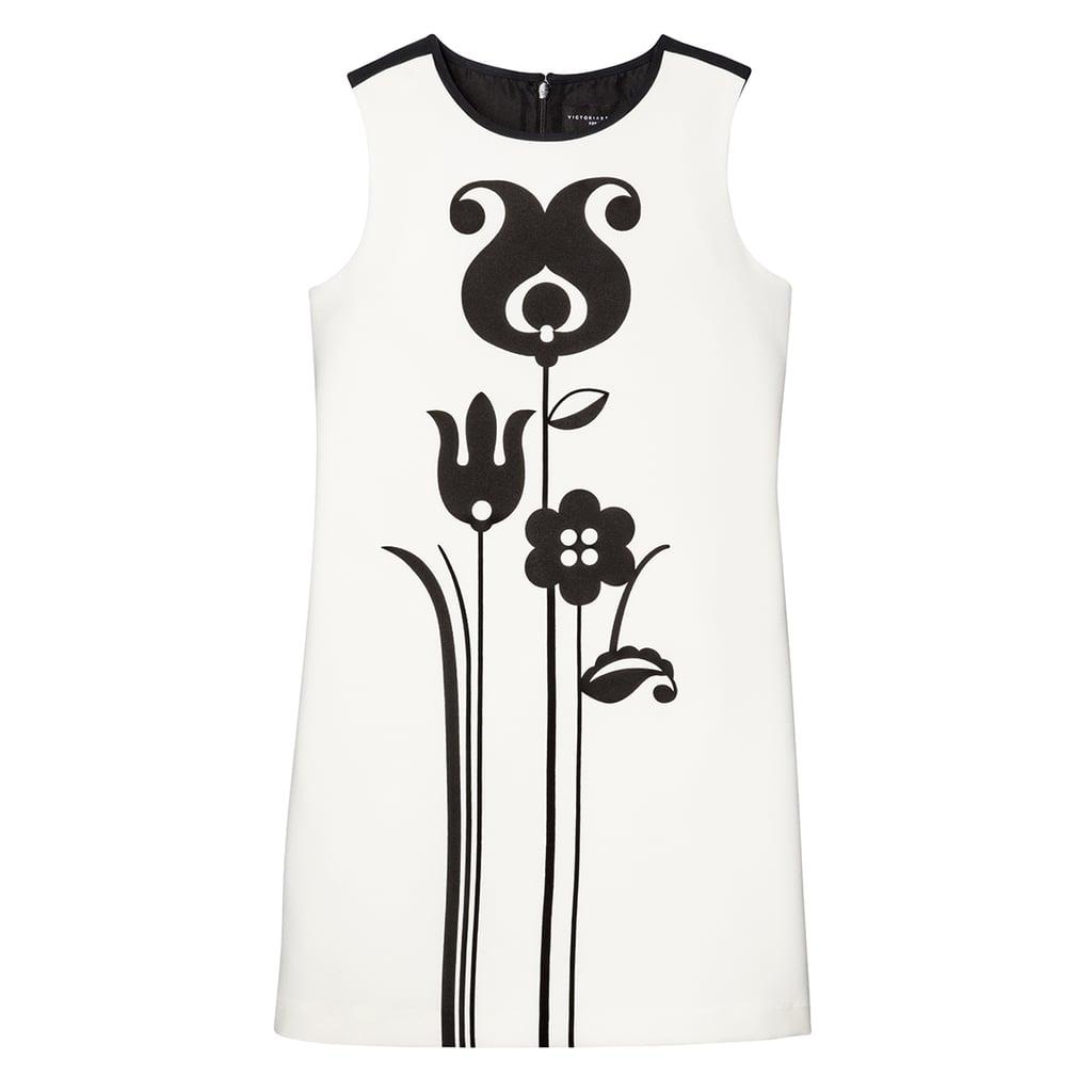 Girls' Black and White Mod Shift Tulip Print Dress ($25)