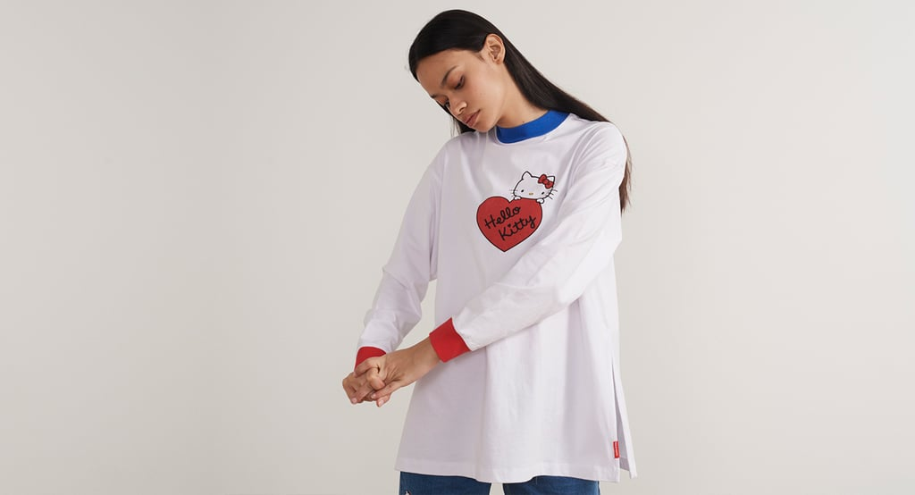 d2405bde1 Hello Kitty x Lazy Oaf Long Sleeve Split T-Shirt ($64) | Hello Kitty ...