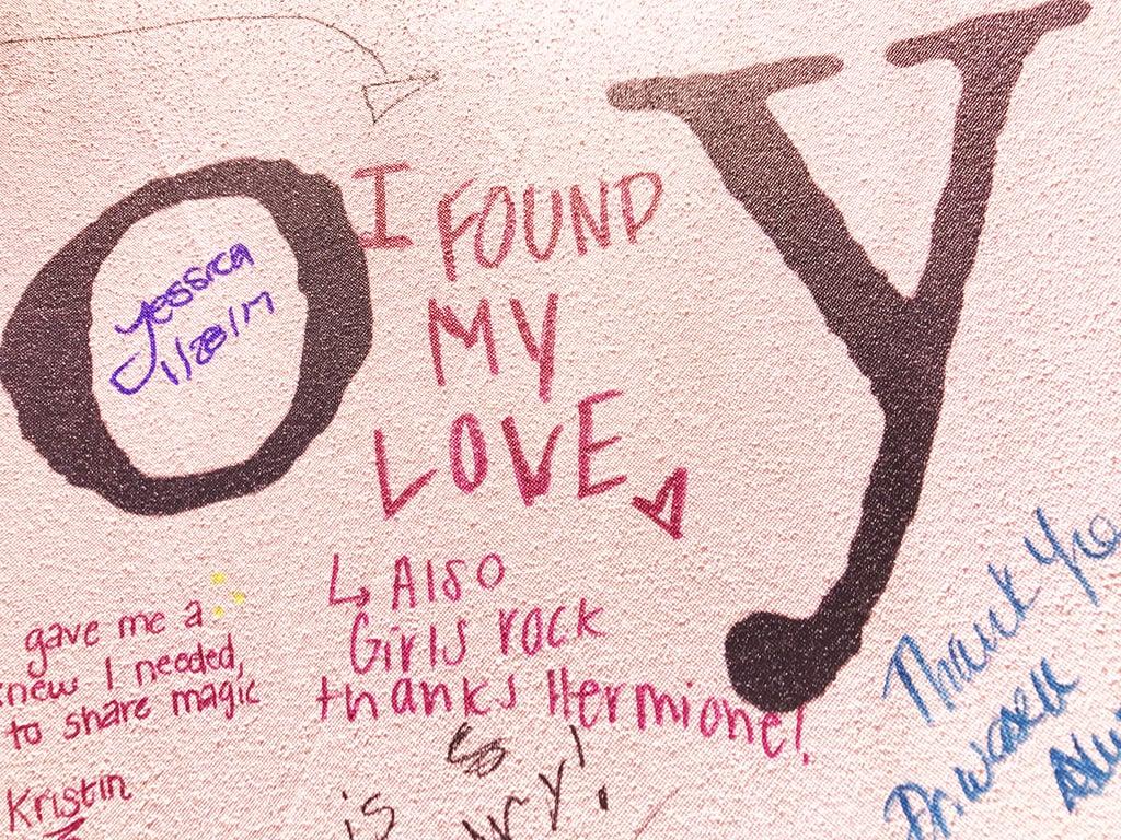 """""""I found my love (Also girls rock, thanks Hermione!)."""""""