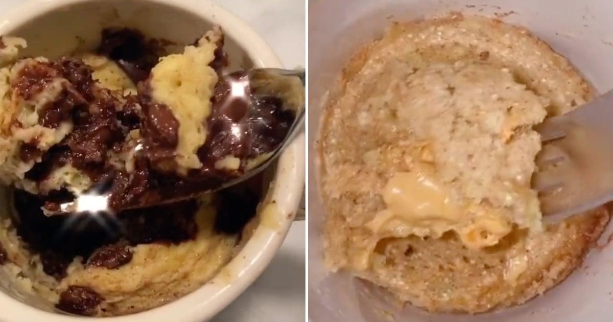 Easy Banana Bread In A Mug Recipe Tiktok Video Popsugar Food