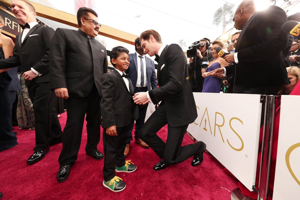 Sunny Pawar and Andrew Garfield