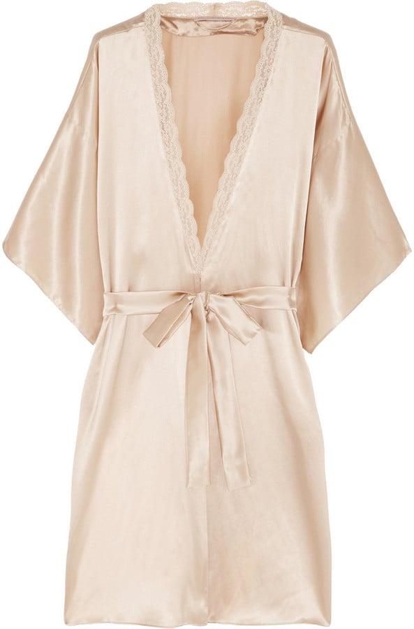 Stella McCartney Clara Whispering Lace-Trimmed Silk Robe ($325)