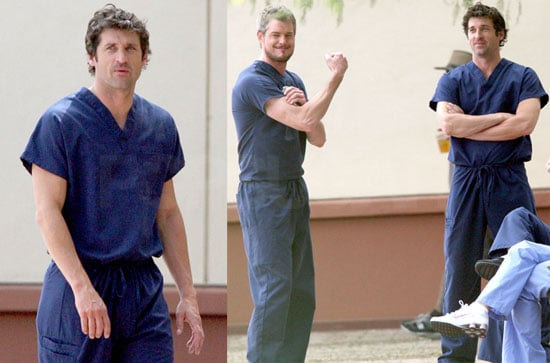 Photos of Eric Dane, Katherine Heigl, and Patrick Dempsey on the Set of Grey's Anatomy