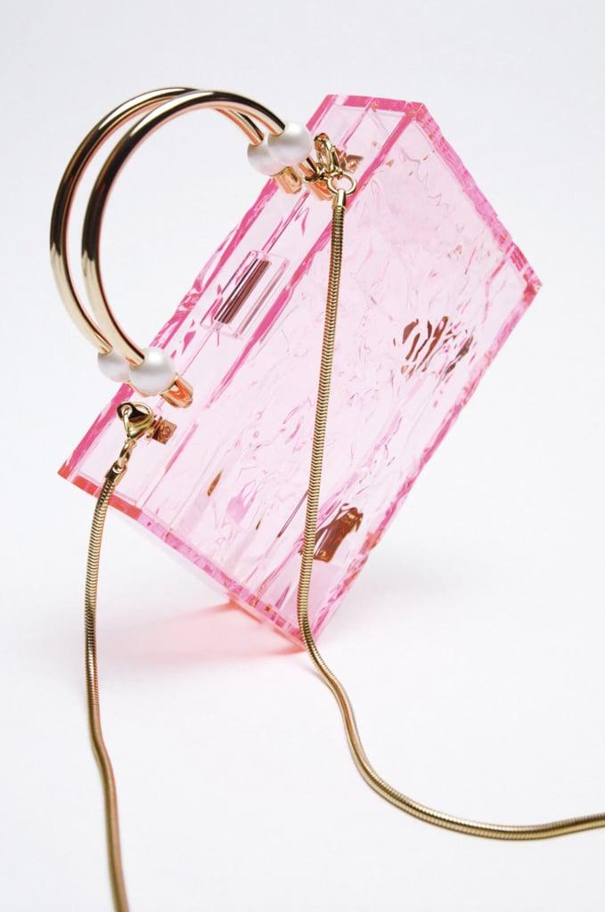 Zara Pearl Strap Methacrylate Box Bag
