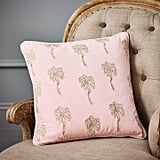 Graham and Green Palmier Rose Velvet Cushion