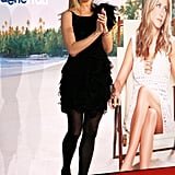 For the Berlin premiere of Just Go With It, the leading lady chose a tulle, ruffled Nina Ricci creation, opaque black tights, and sky-high pumps.