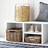 Open Weave Round Basket With Handle