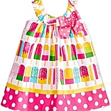 Bonnie Baby Cotton Popsicle-Print Dress