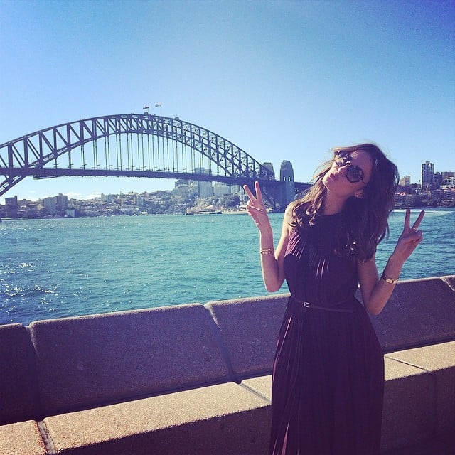Nicole Trunfio was a good sport when we asked her to strike a pose in front of the Sydney Harbour Bridge. We were chatting with the Australian supermodel to get the low-down on all things The Face Australia.