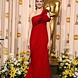 Anne had a modern goddess moment in fiery Marchesa in February 2008 at the Academy Awards.