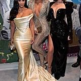 Kim Kardashian, Khloé Kardashian, and Kylie Jenner at Diddy's Birthday Party