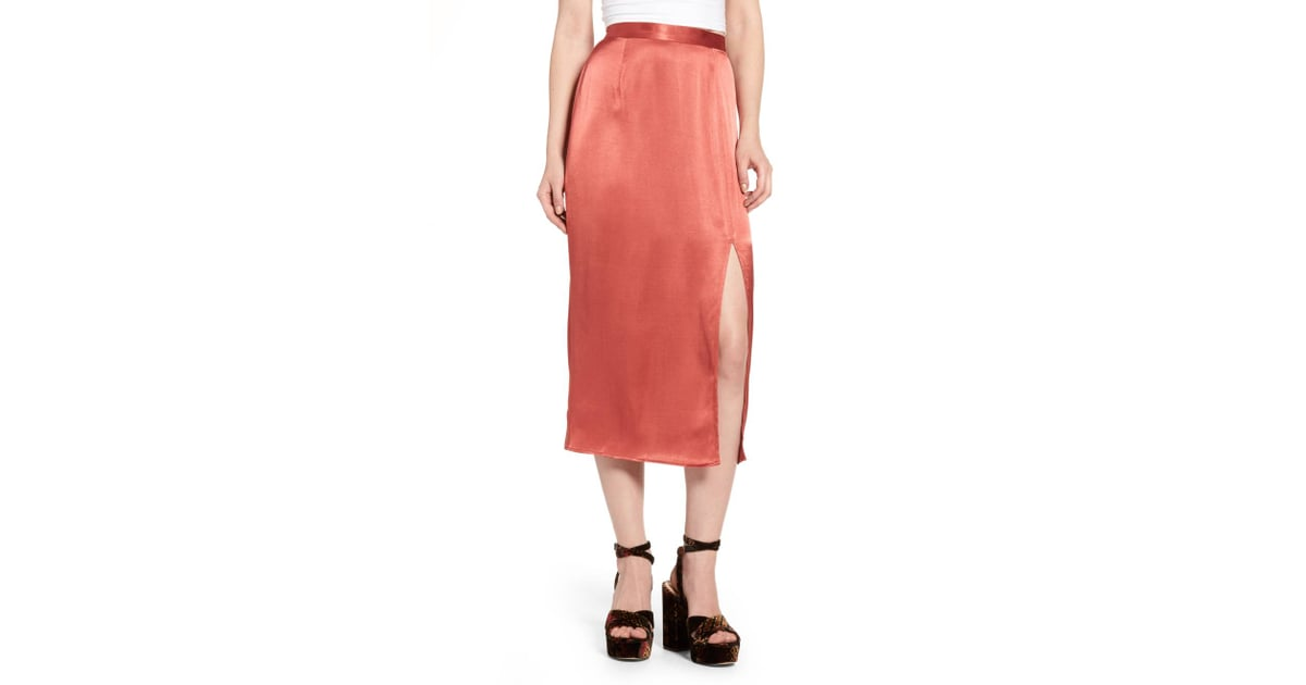 b3f73593dd WAYF Brady Satin Midi Skirt | Fall Skirts | POPSUGAR Fashion Photo 13