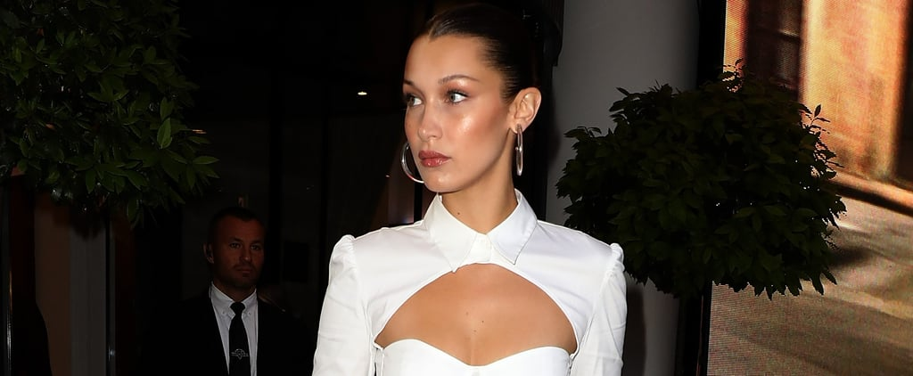 Bella Hadid's Clear Hoop Earrings