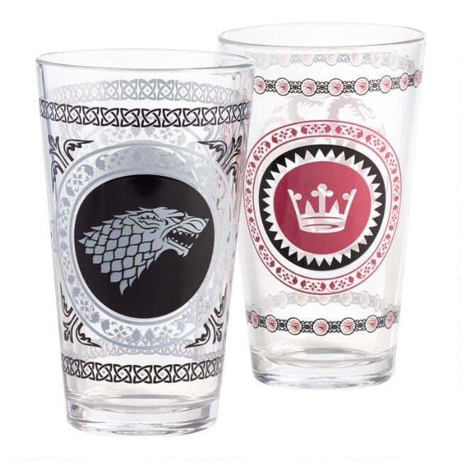 Game of Thrones Pub Glasses Set of Two