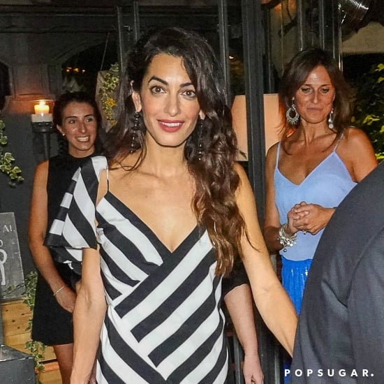 Amal Clooney Striped Dress Italy August 2018
