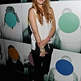 Whitney Port donned black and white for Charlotte Ronson.