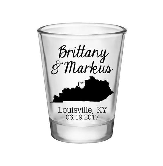 Wedding State Shot Glasses