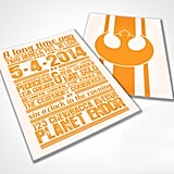 "Star Wars-themed ""rebels in love"" wedding invites ($50 for digital file)? Done and done."
