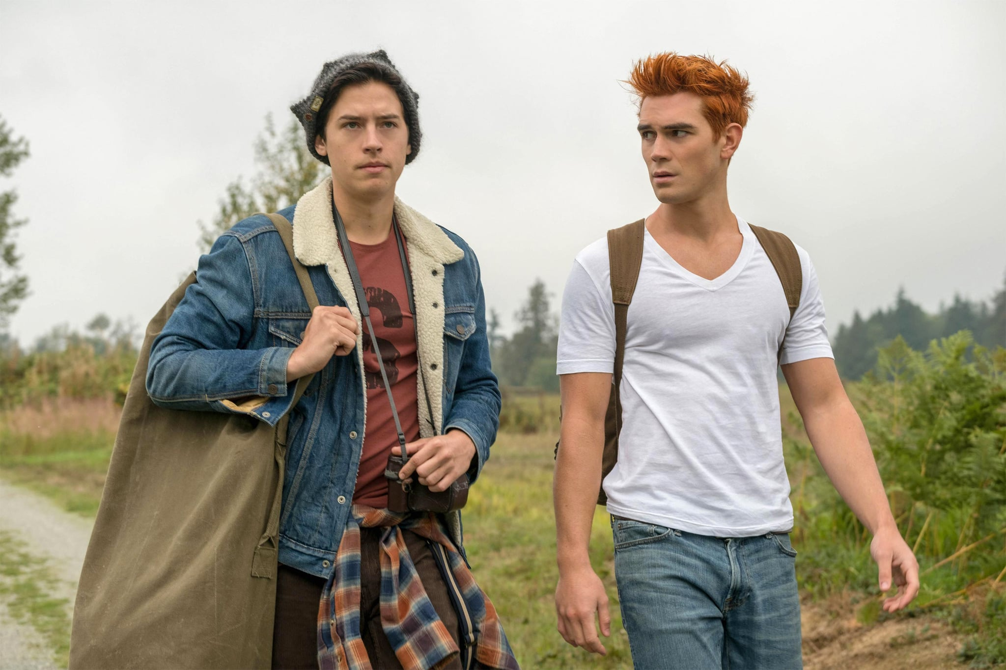 RIVERDALE, from left: Cole Sprouse, KJ Apa, 'Chapter Forty-Two: The Man in Black', (Season 3, ep. 307, aired Dec. 5, 2018). photo: Cate Cameron / The CW Network/courtesy Everett Collection