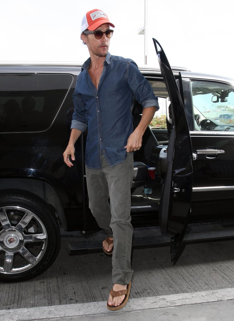 Matthew McConaughey arrived at LAX.
