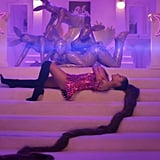 "Ariana Grande With Her Miles-Long High Ponytail in ""7 Rings"""