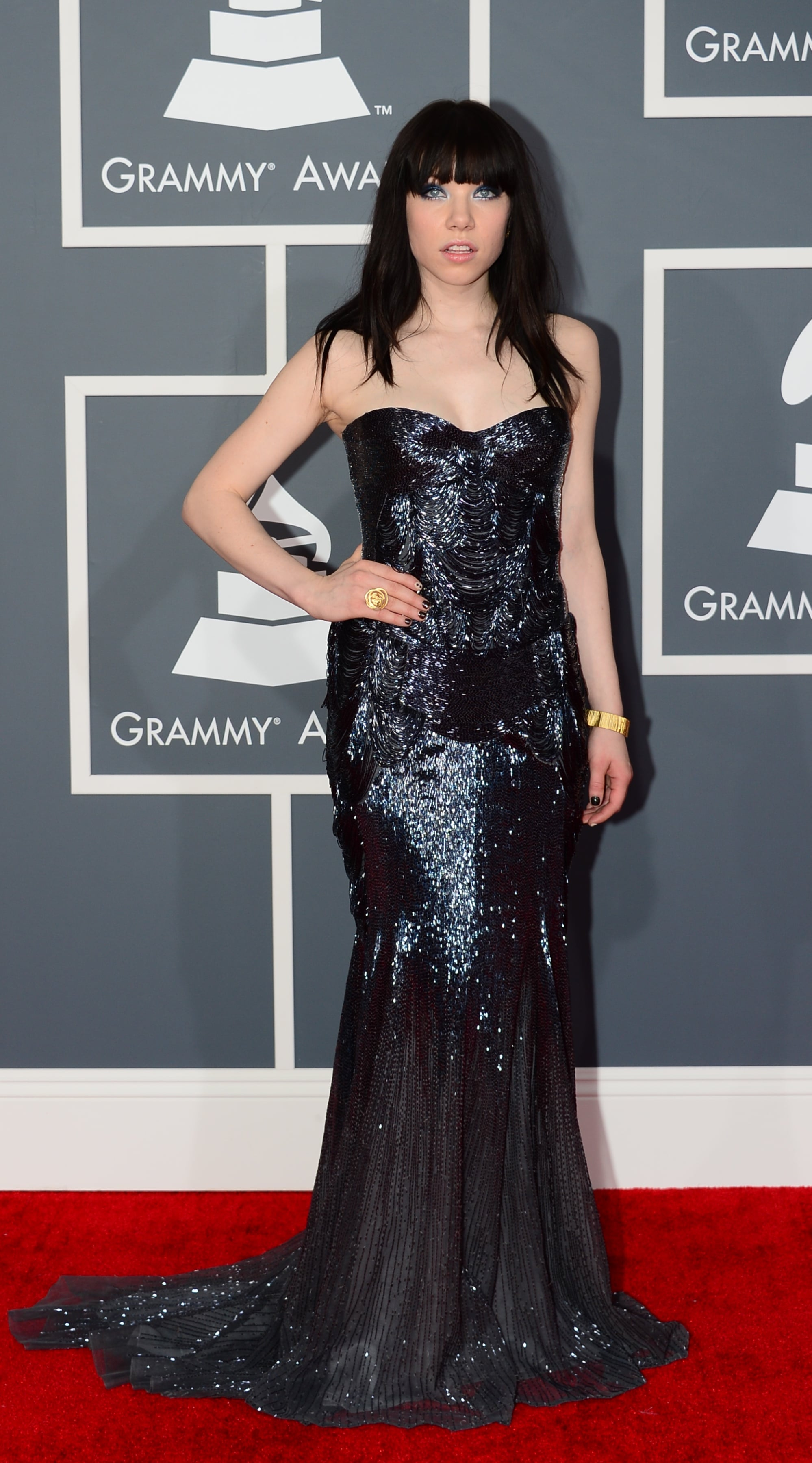 Carly Rae Jepsen struck a pose on the red carpet.