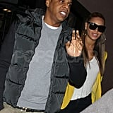 Beyoncé and Jay-Z walked into MSG for the Knicks game.