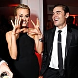 Taylor Schilling had Zac Efron laughing at the after-party for The Lucky One premiere in LA.