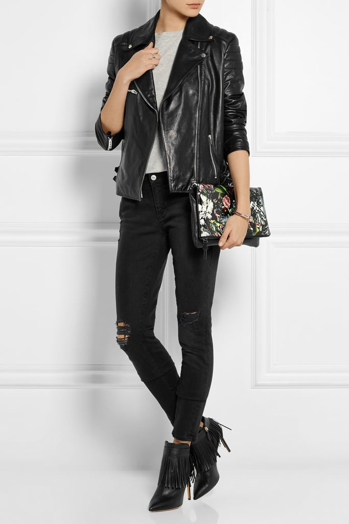 335936cfb7eb5 MCQ Alexander McQueen Leather Biker Jacket, $1,841.60 | Where to Buy ...