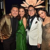 Pictured: Jon Chu, Michelle Yeoh, Nico Santos, and Constance Wu