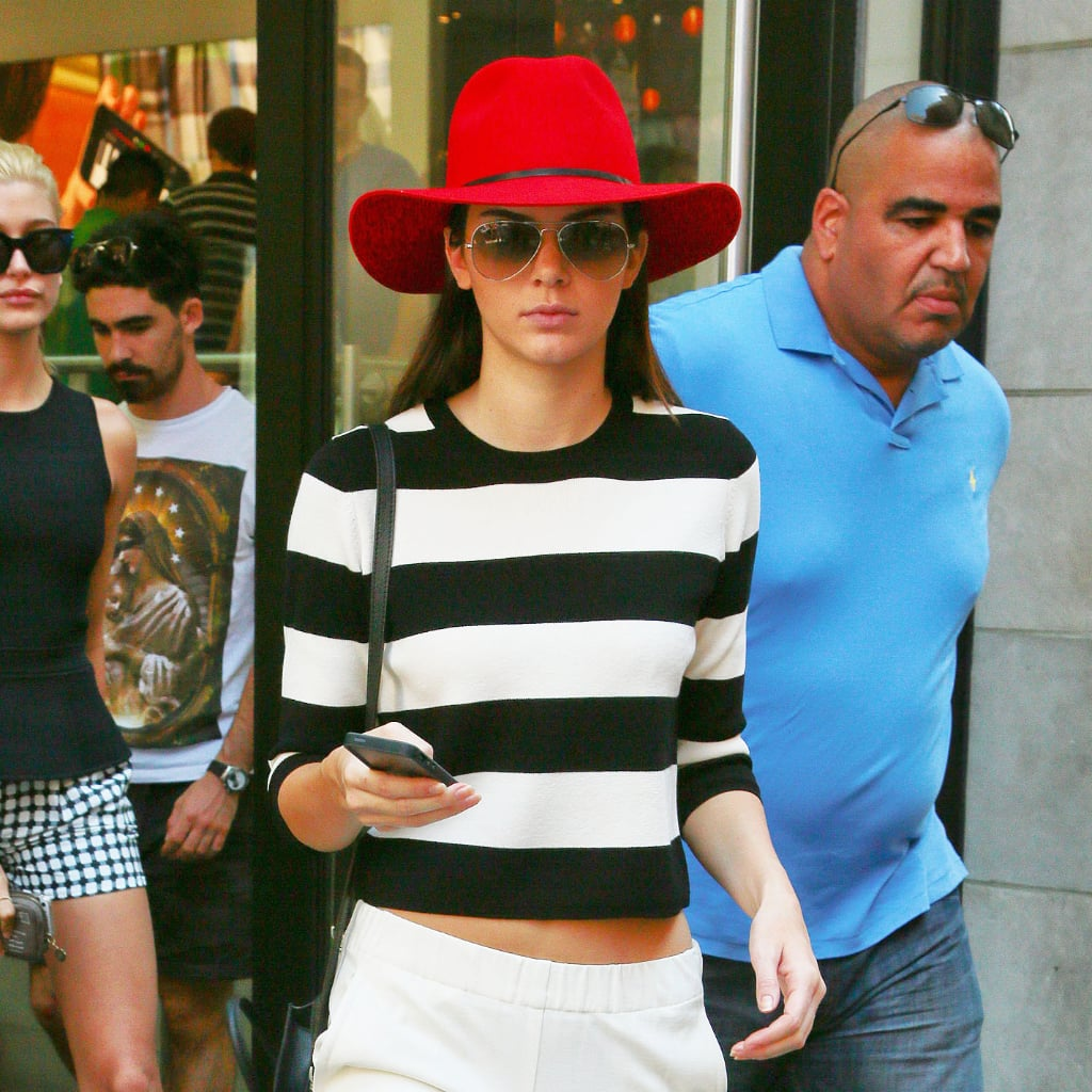 Kendall Jenner's Red Hat | Street Style