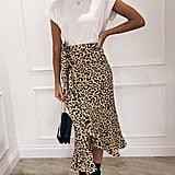 Ruffle Bohemian Leopard Skirt