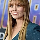 Elizabeth Olsen's Wispey Bangs and Long Layers