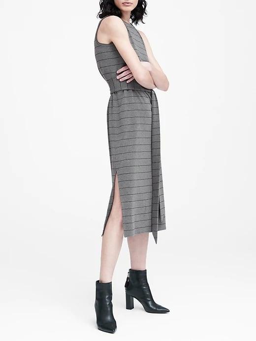 Striped Ponte Tank Dress