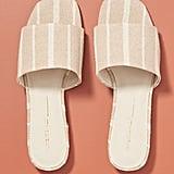 Intentionally Blank Striped Slide Sandals