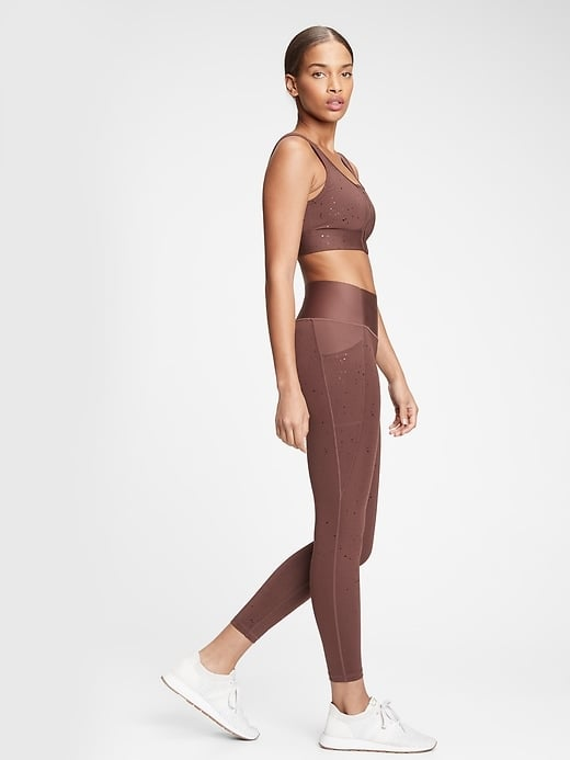 Gap GapFit High Rise Print Pocket 7/8 Leggings in Sculpt Revolution