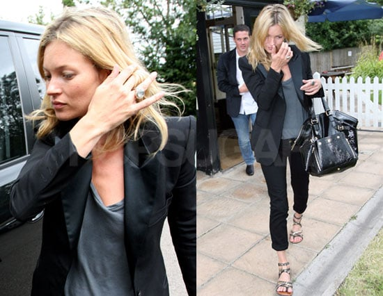 Kate Moss Is Keeping Herself Busy at the Pub