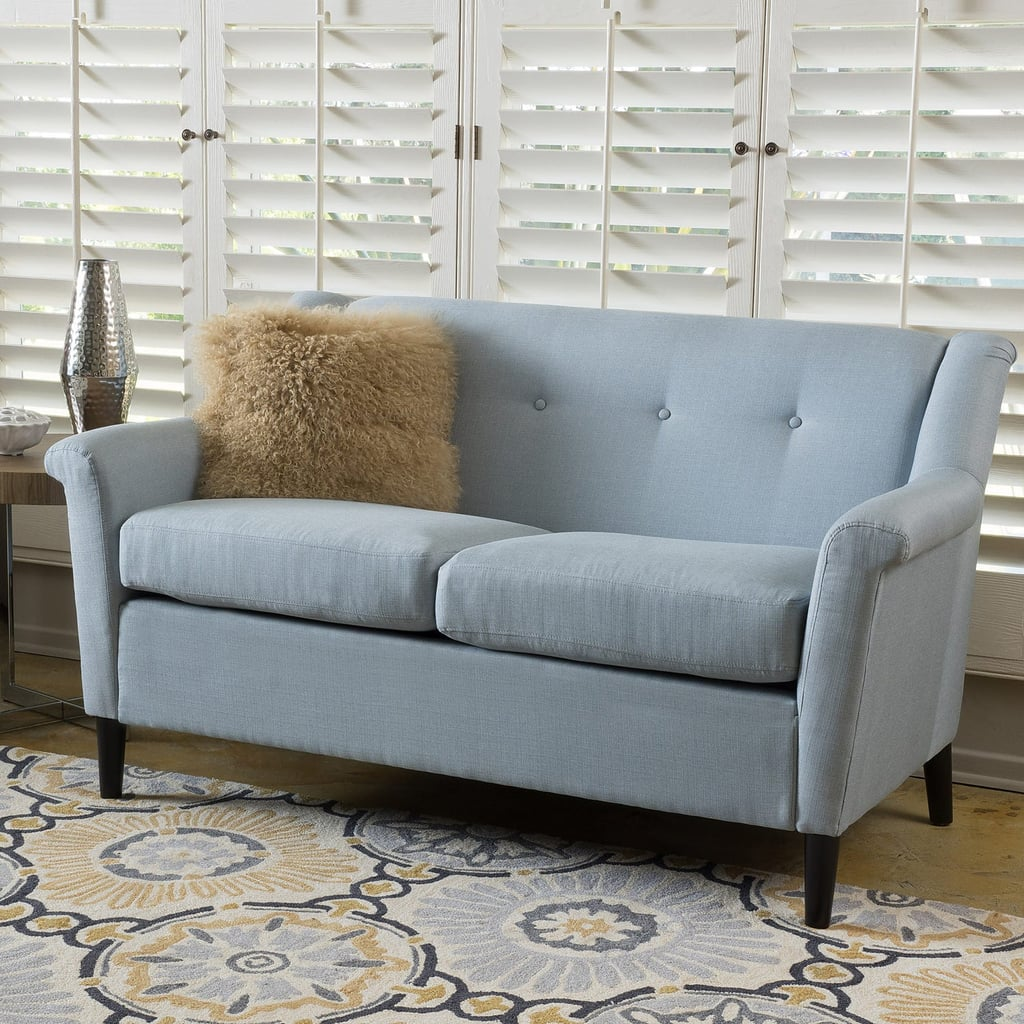 Blue Gray Fabric Sofa Best Small Space Furniture From