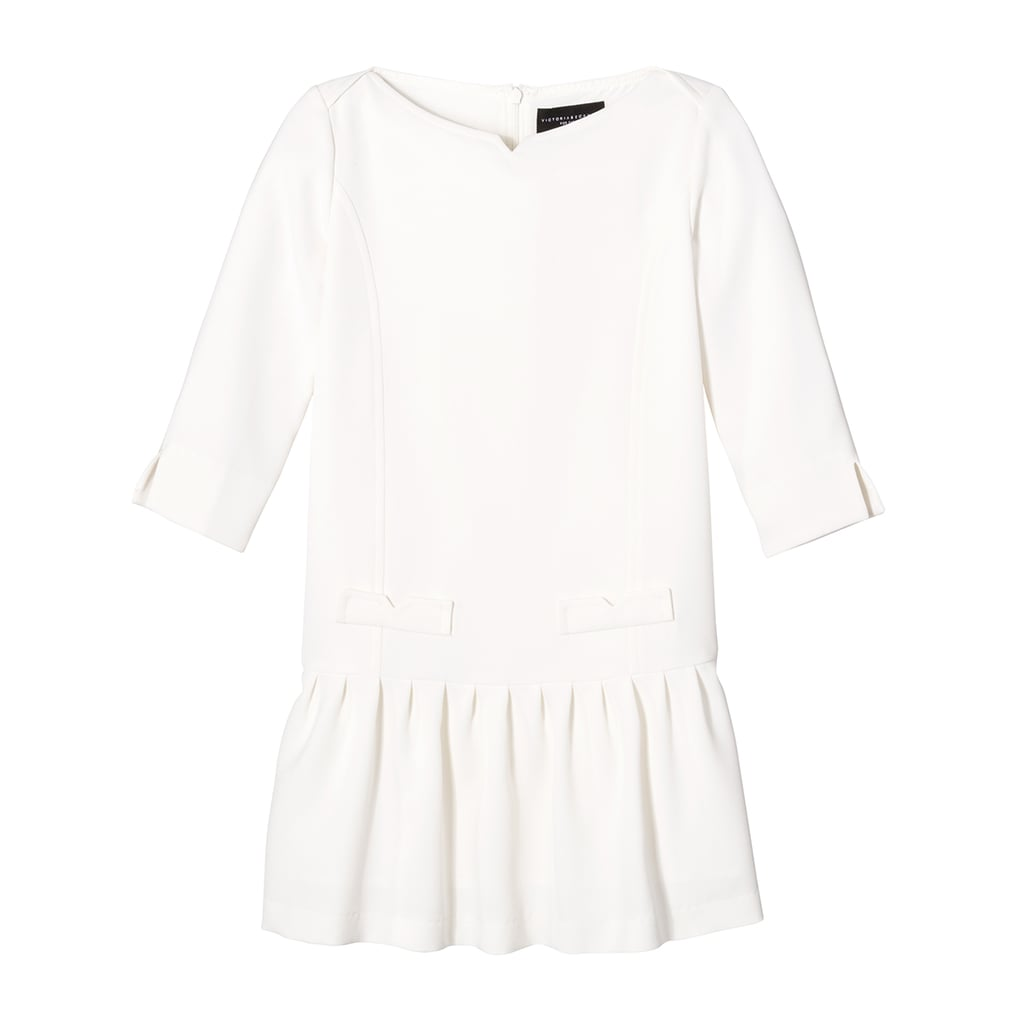 Girls' White Twill Drop Waist Dress   ($28)