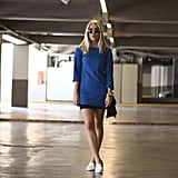 White kicks add a crisp counter to your cool, colored Spring dresses. Source: Lookbook.nu
