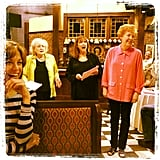 "Jesse Tyler Ferguson took a picture of the Hot in Cleveland ladies reacting to Cloris Leachman ""misbehaving."" Source: Instagram jessetyler"