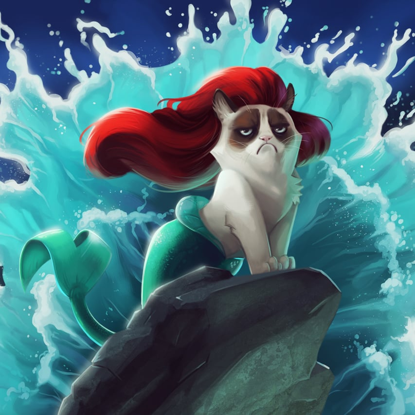 Grumpy Cat Disney Princesses
