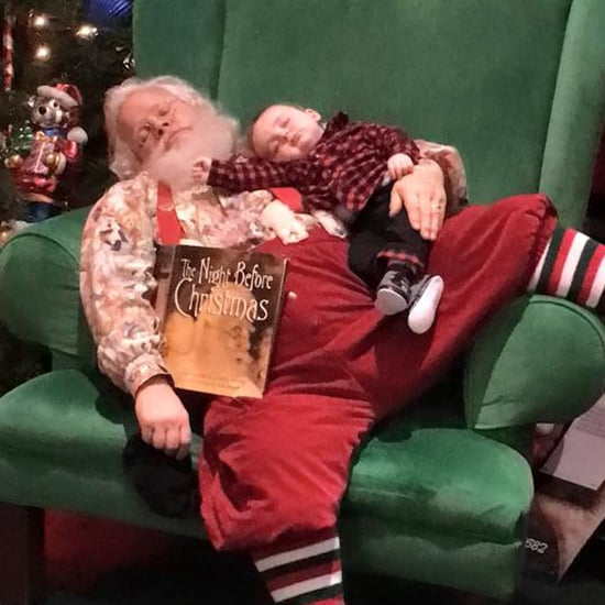 Picture of Sleeping Baby on Santa's Lap