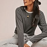 Metallic Varsity Sweatshirt