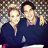 """""""This boy cleans up nicely,"""" Kaley wrote in the caption for this photo.  Source: Instagram user Norman Cook"""