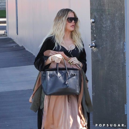 Khloe Kardashian Covering Stomach in LA Pictures